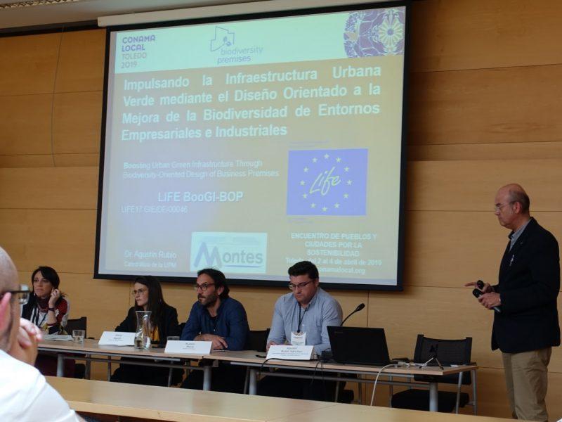 Agustín Rubio (UPM) presenta el proyecto LIFE BooGI-BOP en Conama Local 2019